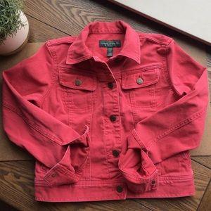 Lauren Ralph Lauren Red Denim Jacket LRL Jeans Co.